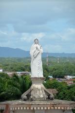 statue on La Merced